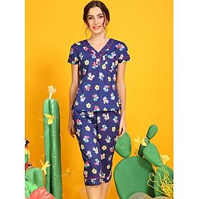Đồ mặc nhà Bộ lửng nữ ngắn tay Tvm Luxury Homewear B485