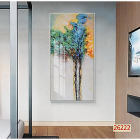 Tranh treo tường phòng khách- Tranh 1 tấm M26222/ Gỗ MDF cao cấp / Chống ẩm mốc, mối mọt/Bo viền góc tròndọc M