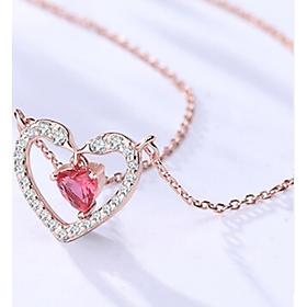 Vòng cổ bạc 925 Trái tim tình yêu