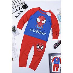 Bộ Đồ Người Nhện Spiderman Dài Tay In Cotton Cho Bé Trai