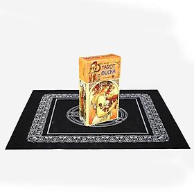 Combo Bộ Bài Bói Tarot Mucha Card Deck và Khăn Trải Bàn Tarot