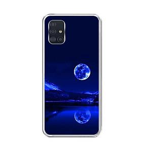 Ốp lưng điện thoại Samsung Galaxy A51 - Silicon dẻo - 0269 MOON02 - Hàng Chính Hãng