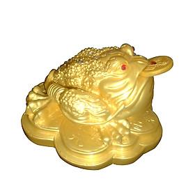 Thiềm Thừ Ngậm Tiền Vàng Chiêu Tài Lộc đá poly vàng - CDV19