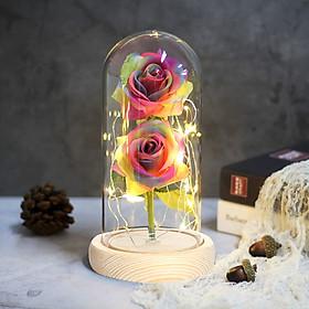 Eternal Flower Preserved Fresh Flower Immortality 2 Roses Floral Decor Festival Valentine'S Day