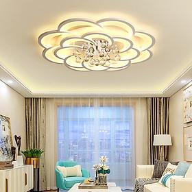 Đèn chùm pha lê phòng khách, đèn mâm ốp trần trang trí - OPLADY0128