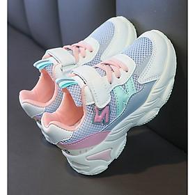 Giày thể thao bé gái dạng lưới thoáng mát , êm chân - giày đi học bé gái - Mẫu mới THQ61
