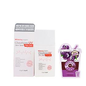 Kem Chống Nắng Bảo Vệ Da Angel's Liquid Whitening Program Glutathione UV Skin Save Water Basic + Tặng Kèm 1 Mặt Nạ Trái Cây Mediheal ( Loại Ngẫu Nhiên)