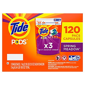 Viên giặt Tide PODS 3 trong 1 - 120 Viên nhập Mỹ