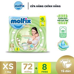 Biểu đồ lịch sử biến động giá bán Tã/bỉm dán sơ sinh Molfix Thiên nhiên Jumbo Newborn (dưới 5kg) - Gói 72+8 miếng