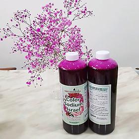 Nước Nhuộm Hoa Tươi Màu Hồng (Set 2 Chai) theo công nghệ Israel Color Sodium For Fresh Flowers giúp nhuộm đổi màu hoa cắt cành thành màu hồng đậm Pink