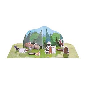 Đồ chơi dán hình 3D Miniso We Bare Bears - Hàng chính hãng
