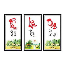 Bộ tranh dán tường thư pháp Phúc Lộc Thọ nhiều kích thước TPPhucLocTho_01