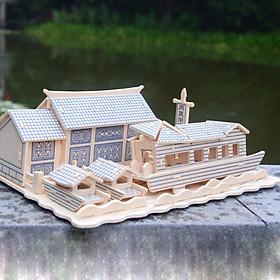 Đồ chơi lắp ráp gỗ 3D Mô hình Nhà cổ J085