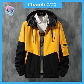 Áo Khoác Nam kaki 2 lớp phối nón không tháo rời thời trang hàn quốc trẻ trung cuốn hút thương hiệu Chandi, chất liệu thấm hút mồ hôi dày dặn mặc thoáng mát KK01