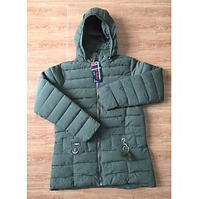 Áo khoác phao nữ dáng dài trẻ đẹp cho mùa đông ấm áp dày 3 lớp vải dù lót bông hàng Việt Nam LC