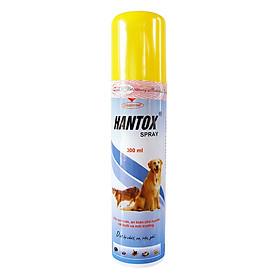 Thuốc Phun Xịt Ve, Ghẻ, Bọ Chét Chó Mèo Hanvet Hantox Spray (300ml)