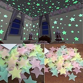 Combo 500 sao dạ quang phát sáng trang trí
