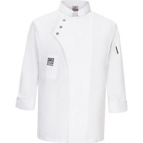 Áo Khoác Nam Unisex áo Khoác Dài Tay áo Sơ Mi Nhà Bếp đồng Phục Bảo Hộ Lao động