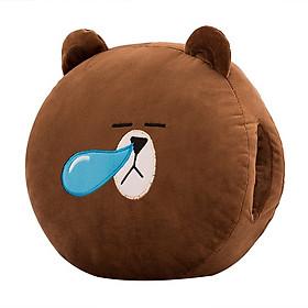 Hình đại diện sản phẩm Gấu Bông Giữ Ấm Tay Hình Gấu Nâu Siêu Mịn 30x30cm