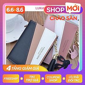 Ví nữ gấp 3 mini dễ thương nhỏ gọn bỏ túi cao cấp nhiều ngăn đựng tiền giá rẻ LUKAMO VD418