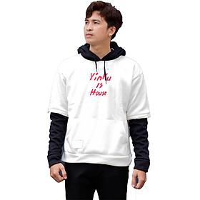 Áo khoác nam hoodie phối tay phong cách trẻ cá tính