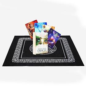 Combo Bộ Bài Bói Mystical Shaman Oracle Cards Tarot Cao Cấp Bản Đẹp và Khăn Trải Bàn Tarot