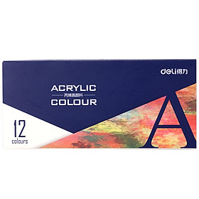 Màu Acrylic Deli 73857 Vẽ Tranh (18 Màu)