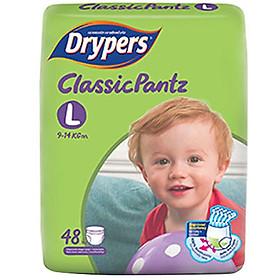 Tã Quần Drypers ClassicPantz Gói Đại L48 (48 Miếng) + Tặng 1 Gói Cùng Loại