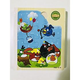 Sách gỗ ghép hình - Combo 2 cuốn sách gỗ ghép hình cho bé 1 tuổi Gnu12
