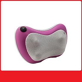 Gối massage thư giãn cổ 6 bi màu hồng