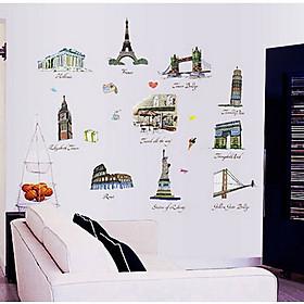 Decal dán tường các kỳ quan thế giới ay9090