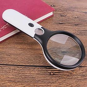 Kính lúp cầm tay 3X-45X đọc sách báo dành cho người già cao cấp (Tặng móc khóa tô vít vặn kính đa năng 3in1)