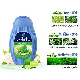 Sữa tắm hương nước hoa Ý Felce Azzurra chanh bạc hà 250ml
