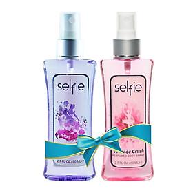 Combo Xịt thơm toàn thân Selfie Perfumed Body Spray - Teenage Crush 80ml và Me & You 80ml