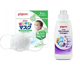 combo Khẩu trang em bé Pigeon + Nước giặt QA trẻ em 500ml