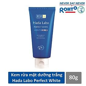Bộ sản phẩm dưỡng trắng da tối ưu Hada Labo Perfect White (Kem rửa mặt 80g + Dung dịch dưỡng 100ml + Kem dưỡng 50g)