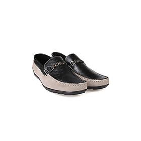 Giày lười nam, Giày mọi nam phối da cao cấp phong cách lịch lãm thương hiệu PABNO - PN145