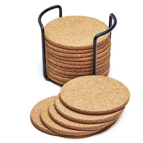 Bộ 16 Đế lót ly tròn thấm hút nước bằng gỗ xốp thân thiện môi trường Mai Lee - Hàng chính hãng