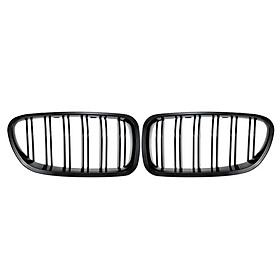 One Pair Front Gloss Black Grille Grilles for BMW F18 F10 2010-2014