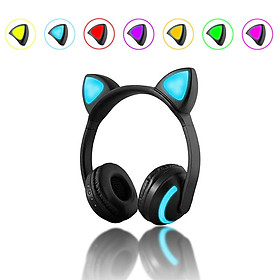 Tai Nghe Bluetooth Gaming Cho Game Thủ, Tai Nghe Mèo Không Dây Chụp Tai có Led 7 Màu M7