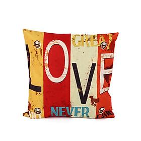 Gối Tựa Lưng Sofa Cotton Trang Trí Sáng Tạo Chữ Love Home