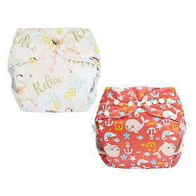 Tã vải BabyCute ban Đêm Siêu chống tràn - Mua 2 bộ tã size L (14-24kg) - Tặng 1 bỉm Cotton size 3 (15-20kg) - Giao mẫu ngẫu nhiên-4