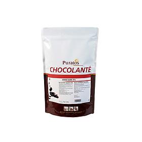 [Chỉ Giao HCM] - Sô cô la nguyên chất Đen hạt nút 75% túi 1kg của Puratos Grand-Place.