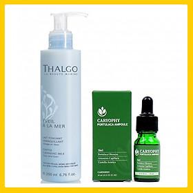 Bộ trị mụn cho da dầu, da nhạy cảm ( Sữa rửa mặt Thalgo 200ml + Serum Caryophy 10ml)