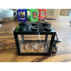 Bể nhựa nuôi cá mini có đèn led (giao màu ngẫu nhiên)