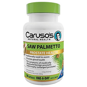 Carusos Natural Health One a Day Saw Palmetto 50 Capsules