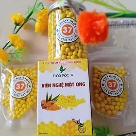 Viên tinh bột nghệ mật ong hũ 500 viên tặng kèm 2 túi zip 100 viên của Thảo Mộc 37