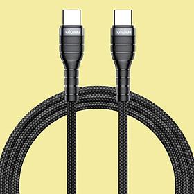 [[ Chỉ 1.5h Sạc 100% Pin Samsung S10 ]] - Dây Cáp Sạc Type C Sang Type C - Vivan - Sạc Nhanh Power Delivery PD 60W 3A - Android (Samsung, Xiaomi, LG, Huawei) - KPD120 - Hàng Chính Hãng