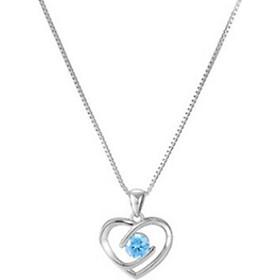 Vòng cổ bạc nữ 925 trái tim yêu thương