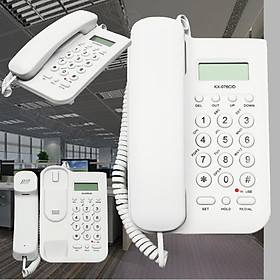 Desktop Telephone Corded Phone Caller White Wall Mount Home Office Hotel Table